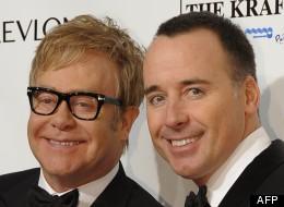 Elton John et son compagnon, David Furnish, à New York le 18 octobre 2012