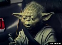 Yoda appears in the ad for Vodafone