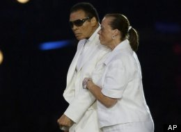 Muhammad Ali participates in the Opening Ceremony at the 2012 Summer Olympics, Saturday, July 28, 2012 in London. (AP Photo/Matt Slocum)