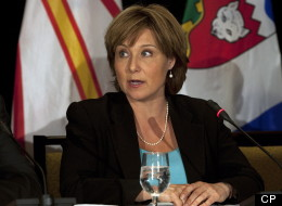 British Columbia Premier Christy Clark fields a question at the closing news conference of the annual Council of the Federation meeting in Halifax on Friday, July 27, 2012. THE CANADIAN PRESS/Andrew Vaughan