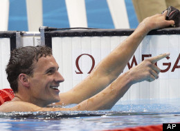 United States' Ryan Lochte reacts after competing in the men's 400-meter individual medley swimming final at the Aquatics Centre in the Olympic Park during the 2012 Summer Olympics in London, Saturday, July 28, 2012.