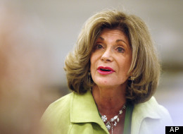 In this Aug. 16, 2011, file photo, Rep. Shelley Berkley, D-Nev. speaks during a jobs rally in North Las Vegas, Nev. (AP Photo/Isaac Brekken)