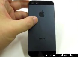 A screenshot from a video by Japanese site Macotakara purporting to show the upcoming iPhone. (YouTube: Macotakara)