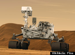 An artist concept features NASA's Mars Science Laboratory Curiosity rover.