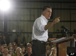 Presumptive Republican presidential candidate, former Massachusetts Gov. Mitt Romney, campaigns in North Las Vegas on Aug. 3. (AP Photo/Charles Dharapak)