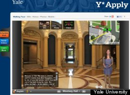 An undergraduate student is featured as the tour guide for Yale University's virtual campus tour.