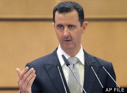 In this Tuesday, Jan. 10, 2012 file photo released by the Syrian official news agency SANA, Syrian President Bashar Assad deliver a speech at Damascus University, Syria. (AP Photo/SANA)