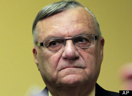 In this April 3, 2012 file photo, Maricopa County Sheriff Joe Arpaio listens to one of his attorneys during a news conference in Phoenix. (AP Photo/Ross D. Franklin, File)