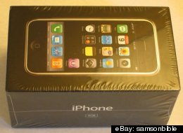 One of the first-generation iPhones being sold on eBay.