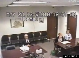A screenshot of the video that was recording during Arthur Hage's family court hearing.