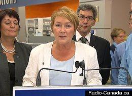 Pauline Marois, lors de son annonce en matière de santé, le samedi 11 août 2012. (Radio-Canada.ca)