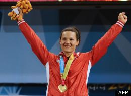Christine Girard a remporté une médaille de bronze en haltérophilie. (AFP)