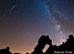 Veteran astrophotographer Roberto Porto snapped this spectacular view of a Perseid meteor over Mount Tiede National Park in the Canary Islands off the west coast of Africa on Aug. 11, 2012 during the peak of the 2012 Perseid meteor shower.
