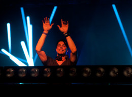 Thomas Gold, performing during a concert on Governor's Island in New York.