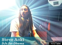 Steve Aoki shows some support for the President in