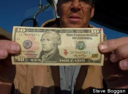 Steve Boggan followed this ten dollar bill around the country