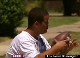 Elijah Earnheart, sidelined from Pee Wee football because of his size, says he's not ready to play in a higher league.