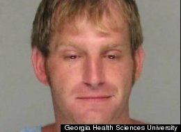 Coley Mitchell, 32, was arrested for public drunkenness after being discovered in a locker room intoxicated, with his pants half down and two lab monkeys running around.