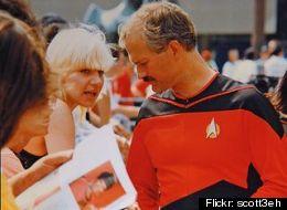 Jack Layton was a big Star Trek fan. Here he is pictured wearing a custom uniform he had made. (<a href=