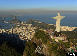 An arial view of the 'Christ the Redeemer' statue on top of Corcovado mountain on July 27, 2011 in Rio de Janeiro, Brazil. (Michael Regan/Getty Images)