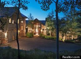 Exterior photo of Kelsey Grammer's home near Beaver Creek, Colorado.