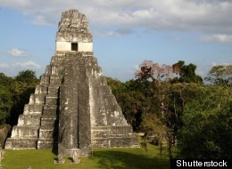 A temple in Tikal, one of the Mayan city states.