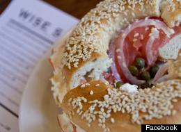 A bagel from Wise Sons.