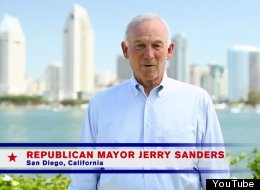 San Diego Mayor Jerry Sanders, a Republican, stars in an ad from the Human Rights Campaign and Freedom to Marry that will air during the Republican National Convention.