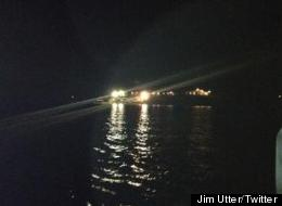A helicopter owned by the Food City grocery chain crashed into a lake in southwest Virginia.
