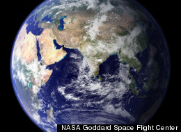 Earth has a mass of about 5.972 x 10^24 kilograms, according to NASA.
