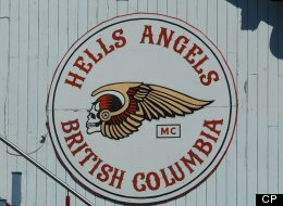 A Hells Angels British Columbia logo on the clubhouse for the Vancouver chapter of the Hells Angels motorcyle club (CP PHOTO/Don Denton)