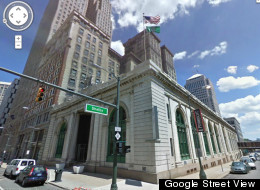 The 112-year-old Detroit State Savings Bank could be torn down to make way for a parking garage (Google Street View)