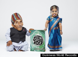 Earlier this year,  the shortest male and female in the world met each other -- the first time in history that this has happened. At the meeting, Both Jyoti Amge of India, who stands slight over two feet met her male counterpart, Chandra Bahadur Dangi of India, who is 21.5 inches tall, wore traditional outfits from their native countries.