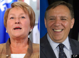 PQ Leader Pauline Marois, who used to serve in cabinet with CAQ Leader Francois Legault, suggested he had a history of double-crossing colleagues and should not be trusted by voters. (CP)