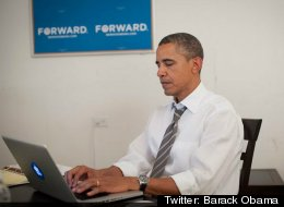 President Obama answering questions from Reddit users during his AMA (