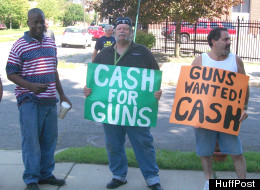 Local gun rights activists and collectors turned up at a Detroit gun buyback to buy guns from sellers in an effort to prevent police from melting them down. (David Sands/HuffPost)