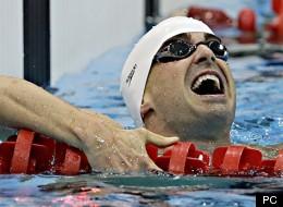 Benoît Huot gagne le 200 m quatre nages à Londres.  (PC/Kirsty Wigglesworth)