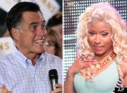 Is Nicky Minaj in Romney's corner?