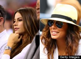 Sofía Vergara y Eva Longoria en el US Open.