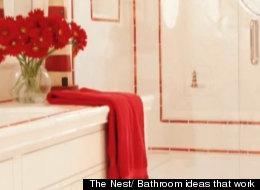 Decora tu baño con mucho color.