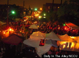 The Dally In The Alley is an annual volunteer-run Detroit street fair that showcases local bands, arts and vendors.