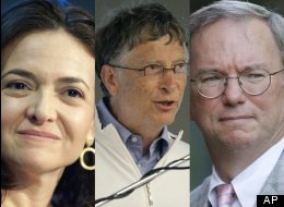 Sheryl Sandberg, Bill Gates and Eric Schmidt are among the tech executives who have donated real money this election cycle.
