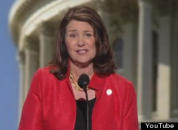 Congresswoman Diana DeGette (D-Colo.) addresses the Democratic National Convention at the Time Warner Cable Arena on Wednesday.