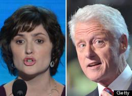 Sandra Fluke and former President Bill Clinton.
