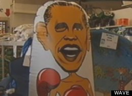 Stout's Building Center in Mount Washington, Ky., is selling an inflatable toy called an 'Obama Bop,' which has offended some residents.