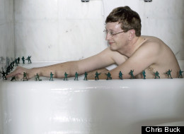 This is not Bill Gates playing with army men in a bathtub.