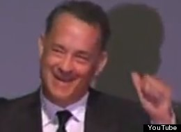 An emotional Tom Hanks told a humorous story during his eulogy of Michael Clarke Duncan on Monday.