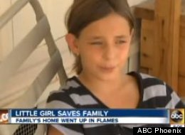 Samantha Christian of Apache Junction, Ariz., saved her family from a house fire on Sept. 3.
