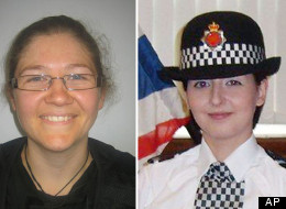 This photo issued by Greater Manchester Police shows PC Fiona Bone, aged 32, and PC Nicola Hughes, 23, who were killed in the line of duty while attending a