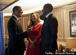 Obama says Beyonce is a role model for his girls.